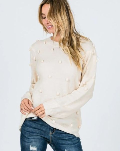 Aspen Pom Pom Sweater