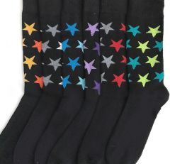 Zuna YELETE Dress Socks for Men Seeing Stars