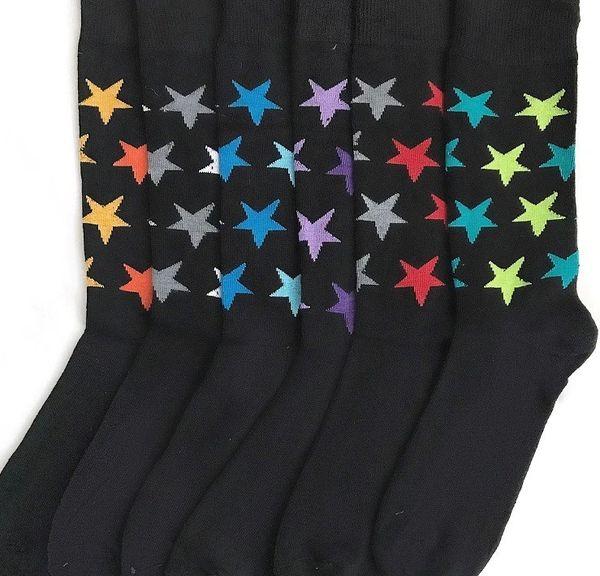 YELETE Dress Socks for Men Seeing Stars