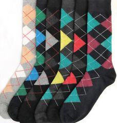 Zuna YELETE Dress Socks for Men Articulate Argyle