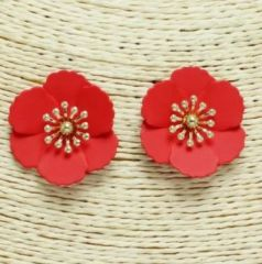 Accessory- Barbados Floral Earrings in Poppy Seed