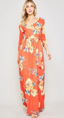 Coral Reese Maxi Dress