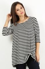Laurel Stripe Top- Sizes S-3XL