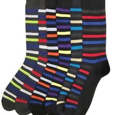 YELETE Dress Socks for Men Superior Stripes