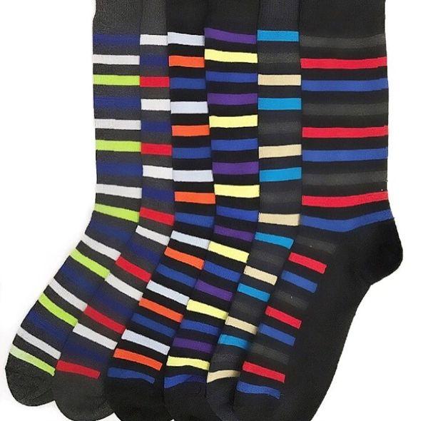 YELETE Dress Socks for Men Superior Stripes