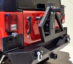 RS-2 SINGLE ACTION REAR BUMPER & TIRE CARRIER