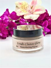 Fresh Clean Glow Resurfacing Facial, with natural Glycolic Enzymes