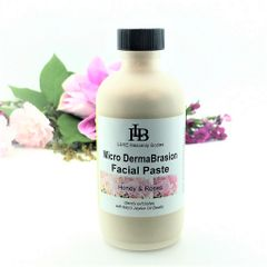 Micro DermaBrasion Facial Paste, gentle Exfoliating Cleanser with Jojoba Oil beads, Rose & Honey