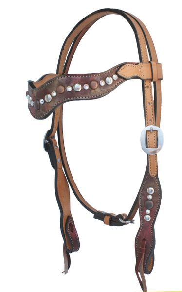ALAMO COPPER METALLIC WAVE STYLE HEADSTALL