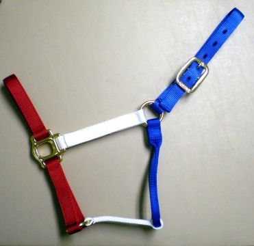 Red White and Blue Horse Size Halter