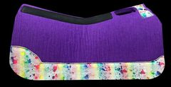 Purple Felt 32x30 Rainbow Acid Wash