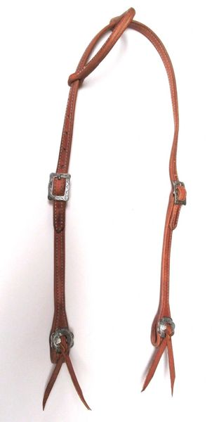 Hermann Oak Doubled & Stitched Slip Ear/JW Hardware Headstall