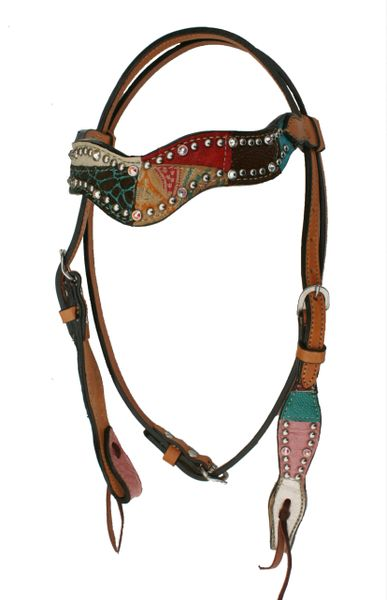 ALAMO WAVE STYLE PATCHWORK HEADSTALL