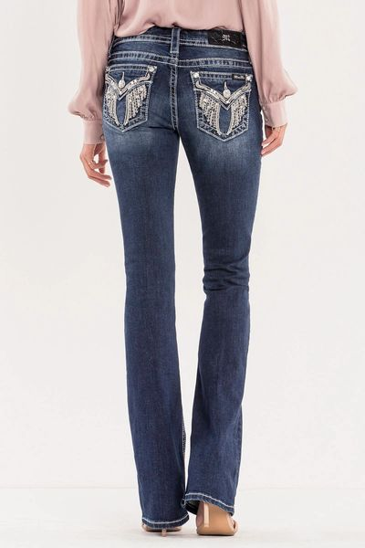 ANGEL OF MINE MID-RISE BOOT CUT JEANS
