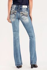 MIXED MESSAGES BOOT CUT JEANS