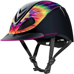 Fallon Taylor Barrel Racing Horse Riding Helmet Tie Dye