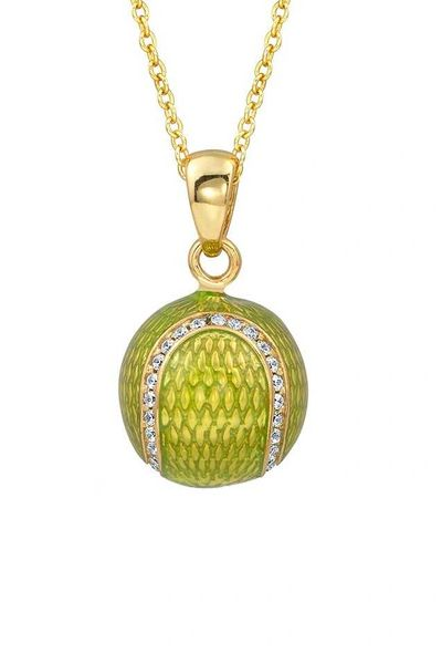 Yellow or yellow green 18kt gold plated sterling silver enamel yellow or yellow green 18kt gold plated sterling silver enamel tennis ball pendant aloadofball Images