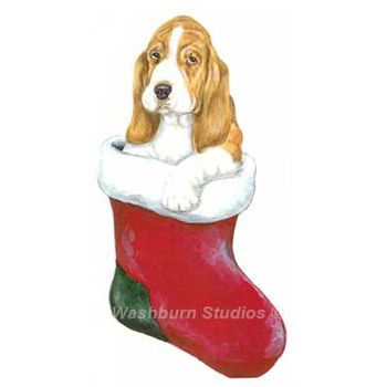 Basset Hound Puppy Christmas Ornament. - Basset Hound Puppy Christmas Ornament D.W. Possum Designs Washburn