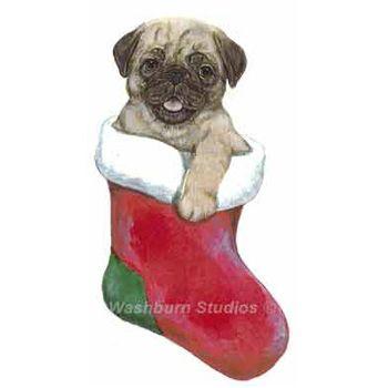 pug puppy christmas ornament