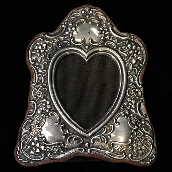 Vintage Sterling Silver Italian Heart Shaped Picture Frame Curiosities