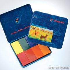 Stockmar Wax Blocks - 8 colours Waldorf assortmentin tin