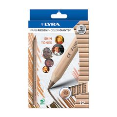 Lyra Colour Giants - skin tones - unlacquered - 12 colours