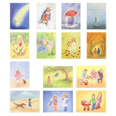 Assortment Children - 14 Postcards - by Marjan van Zeyl