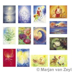 Assortment Seasonal Festivals - 13 Postcards - by Marjan van Zeyl