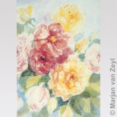 English roses 1 pc postcard