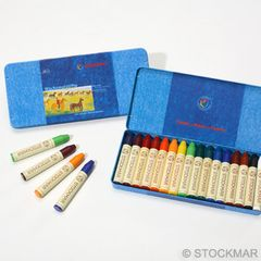 Stockmar Stick Wax Crayons - 16 colours in metal case