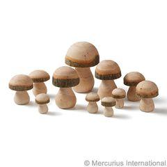 11 pc Toadstool-mushroom set