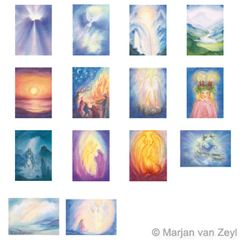 Assortment Light and Mysticism - 14 Postcards