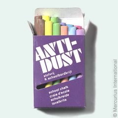 Blackboard Chalk Antidust - 9 colours - 12 pieces