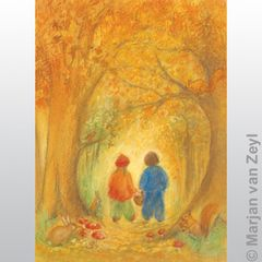 Autumn Forest 1 pc postcard