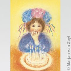 Birthday Cake Postcard 1 pc