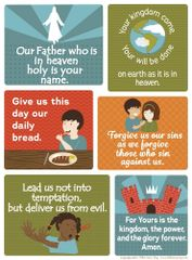 "The Lord's Prayer Poster for Kids 17""x22"""