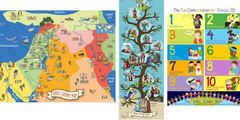 Bible Poster Set of 3 - Commandments, Map & Family Tree