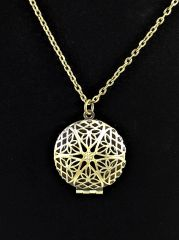 Antique Brass Bronze Necklace Diffuser