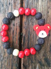 Kids Diffuser Bracelet, Red Bear