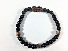 Beaded Men's Diffuser Bracelet - Brown, Black