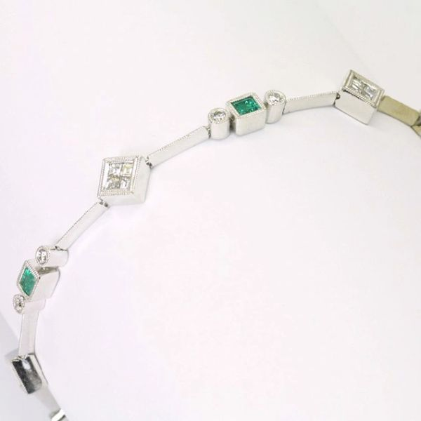 18K Diamond Emerald Bracelet