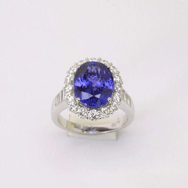 18K W/G Diamond Tanzanite Ring