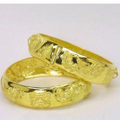 24K Gold Bangle Set