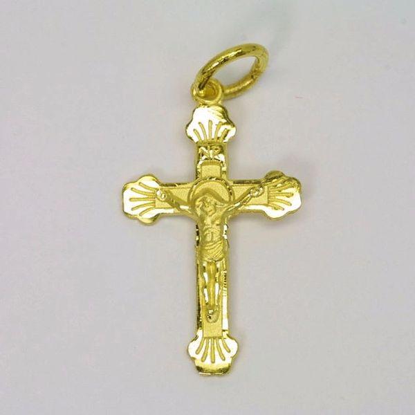 24K Gold Cross Pendant