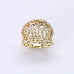 18K Y/G Diamond Ring