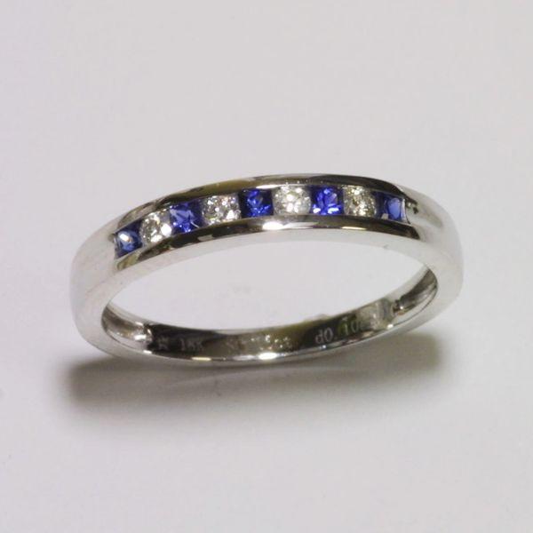 18K White Gold Diamond Sapphire Ring