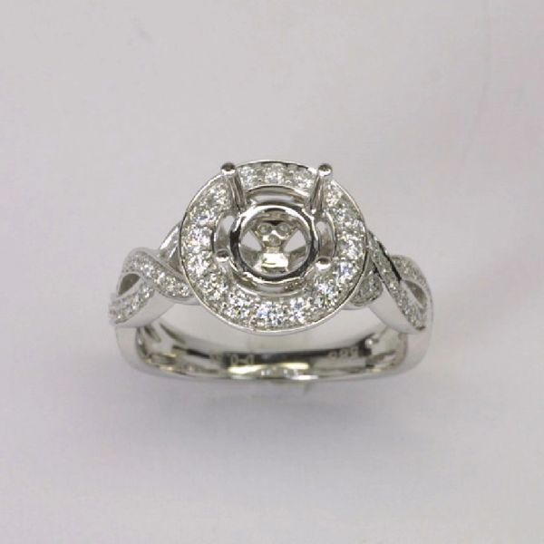 18K W/G Diamond Setting