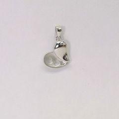 Platinum Heart Pendant