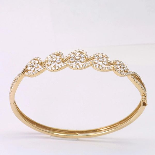 18K Rose Gold Diamond Bangle