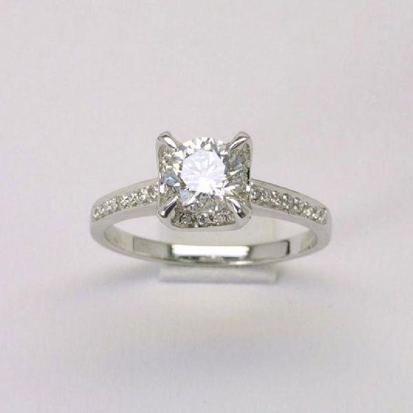 18K W/G Diamond Engagement Ring